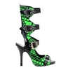 ZOMBIE-106UV Black Faux Leather